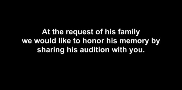 With his family's blessing, AGT decided to honor him by sharing his performance.