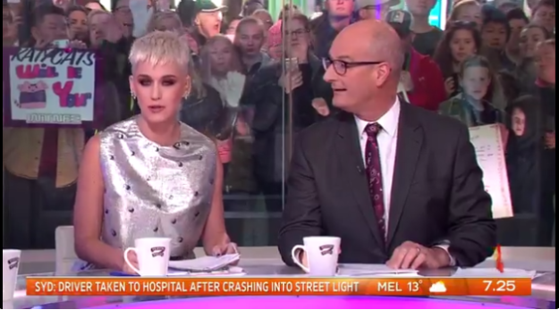 Also, magically, she managed to co-host the live breakfast TV show Sunrise, despite leaving the country an hour before the show aired.