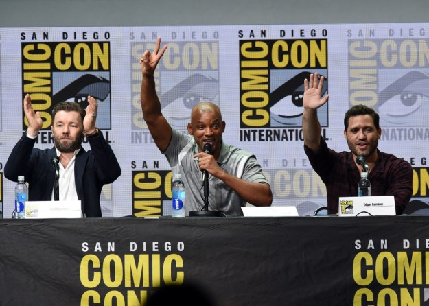 Director David Ayer, leads Will Smith and Joel Edgerton, and co-stars Noomi Rapace, Edgar Ramirez, and Lucy Fry were all in attendance.