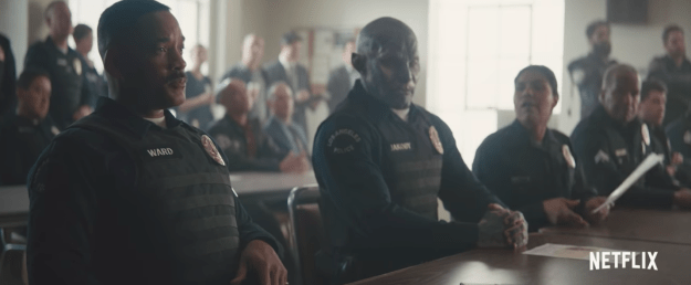 "Edgerton plays one of the first orcs who gets to join the police force. ""It felt really great to be an African-American police officer that just found somebody else to be racist against,"" Smith jokingly said."