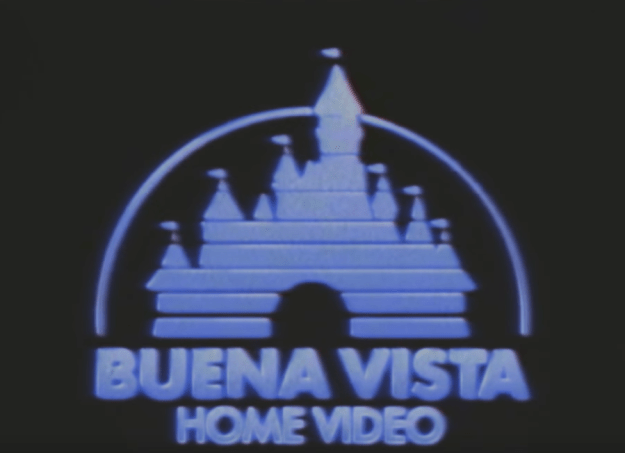 First, it uses Disney's old Buena Vista home video logo: