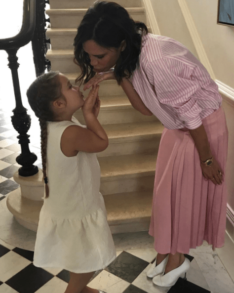 Victoria has since retired from music, and moved into fashion design. So it's not too surprising that her 6-year-old daughter, Harper, had no idea her mom used to be a world-famous pop sensation.