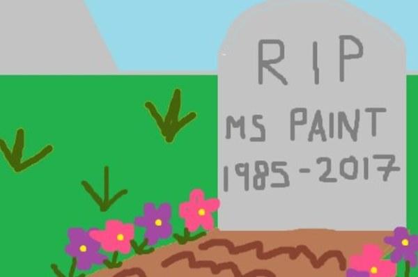 RIP MS Paint (1985–2017)