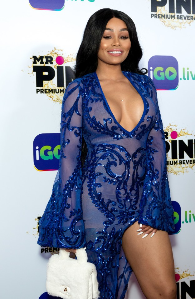 That's right, Rob Kardashian's ex-fiancée Blac Chyna was in the building, rocking a beautiful sheer blue gown with a plunging neckline.