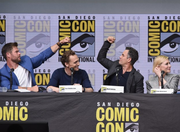 He was recently on the Comic-Con panel for Marvel's Thor: Ragnarok with some obscure talent like Cate Blanchett, Chris Hemsworth, Tom Hiddleston, and Jeff Goldblum and I'm pretty sure he had the time of his fucking life.