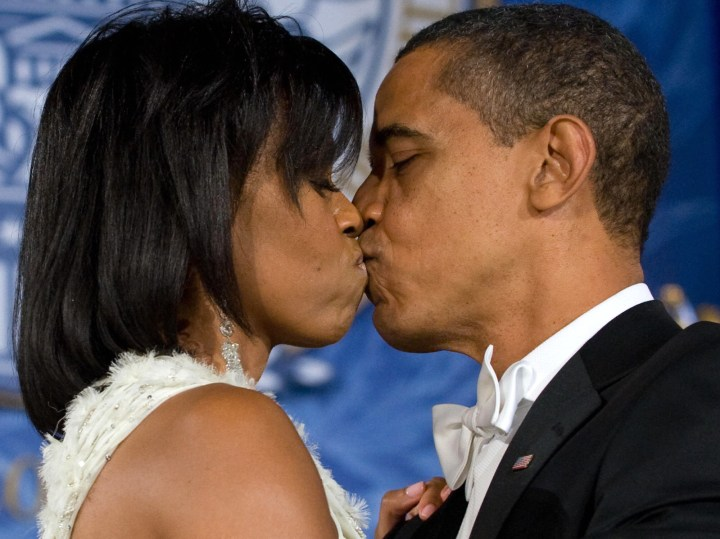 17. This precious moment between President Barack Obama and first lady Michelle Obama during the inaugural ball in 2009: