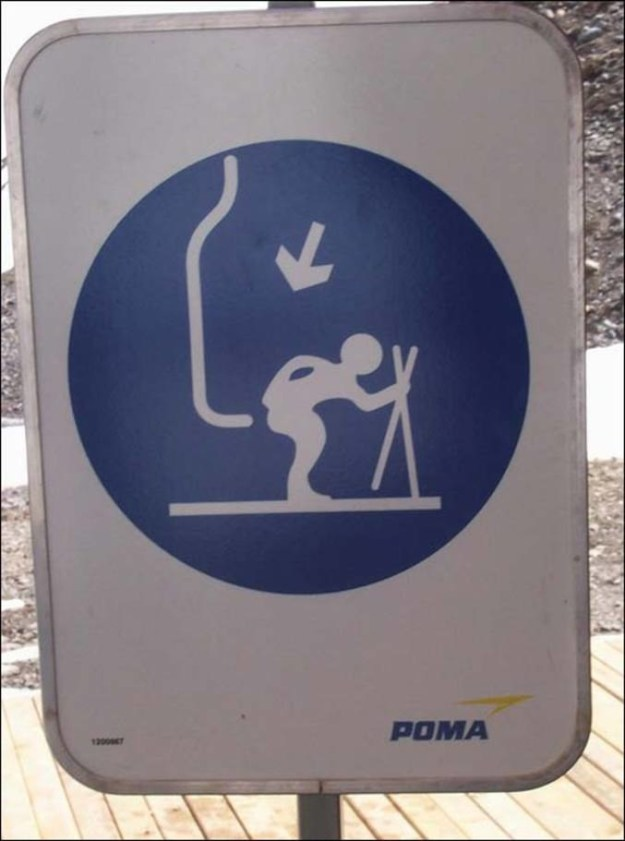 Whoever made this ski lift sign:
