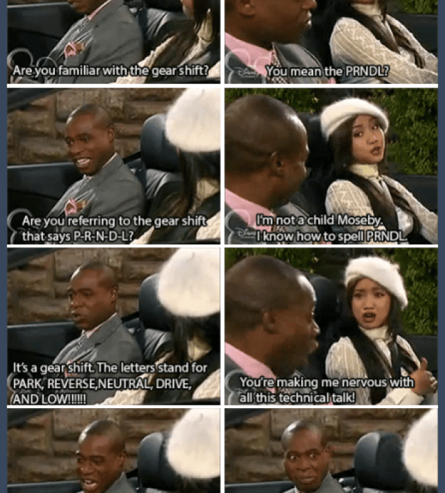 One of his best moments on Suite Life was when he taught London to drive.