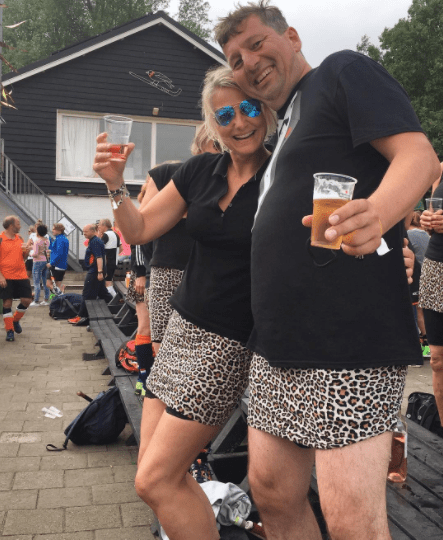 Men can participate too by wearing shorts (or skirts!).