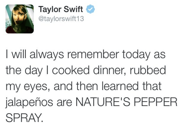 That time she discovered nature's pepper spray.
