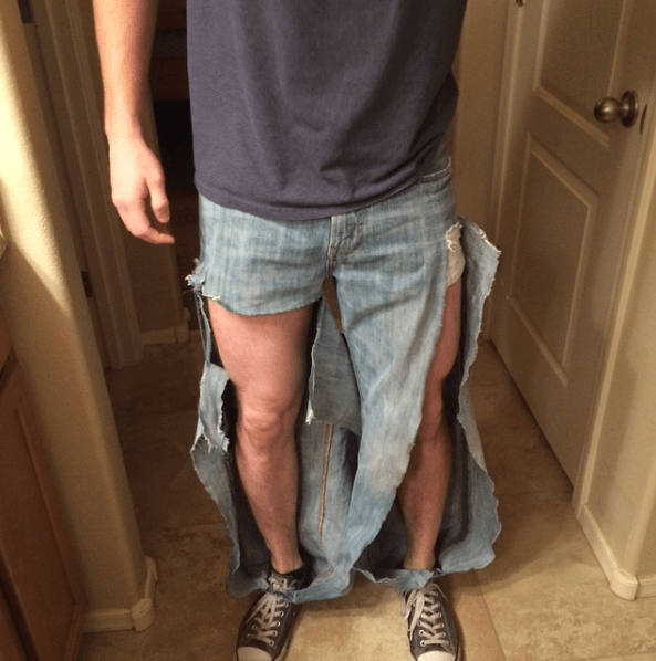 This wife, who made her husband the ripped jeans he begged her for: