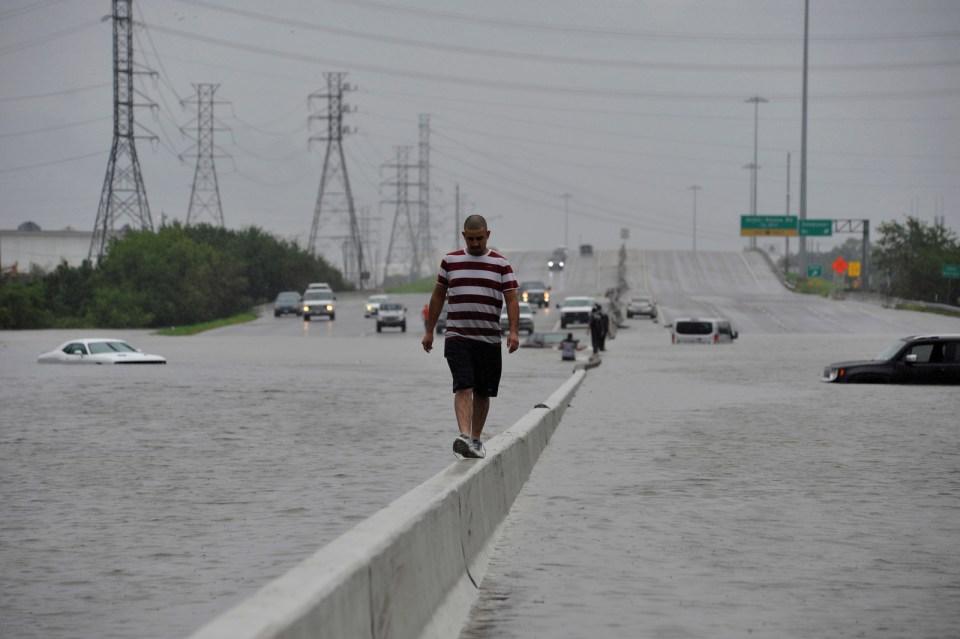 Interstate 225 in Houston, Aug. 27.