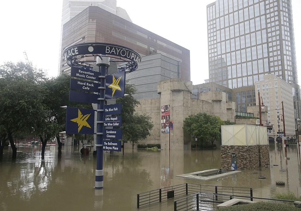 Houston's theater district, Aug. 27.