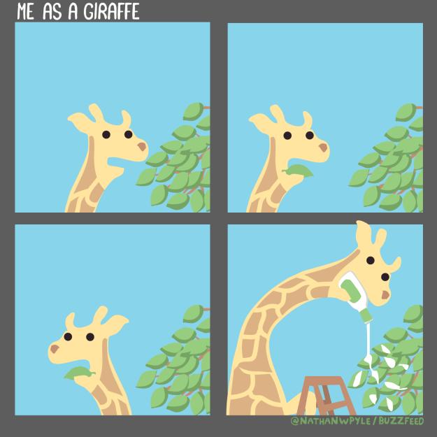 Me as a giraffe.