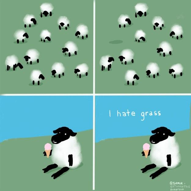 Me as a sheep.