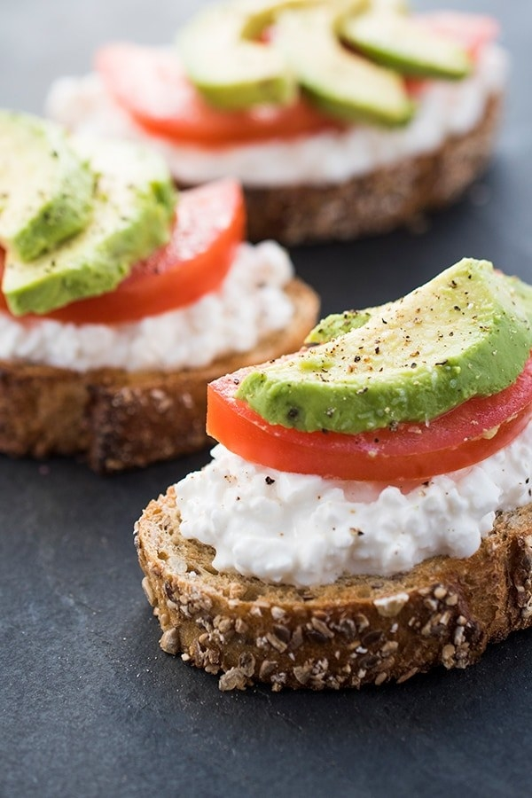 One way to add protein to your morning avocado toast? Add some cottage cheese. Get the recipe here. Protein: 25g