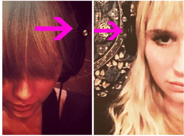 Not only did Kesha appear to be wearing Taylor's headphones...