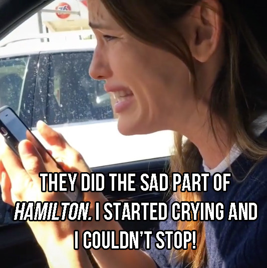 I can't believe you scrolled past the video — shame on you, just grab your headphones and DO it — but suffice to say, Jennifer is absolutely emotionally MOVED to the point of laughter and tears.