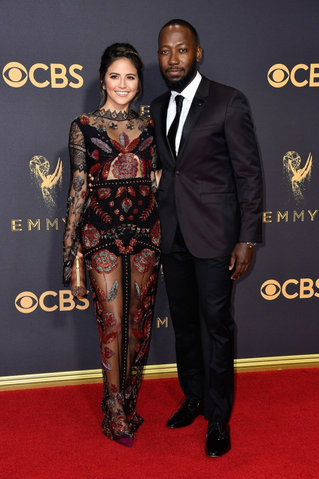 Erin Lim and Lamorne Morris
