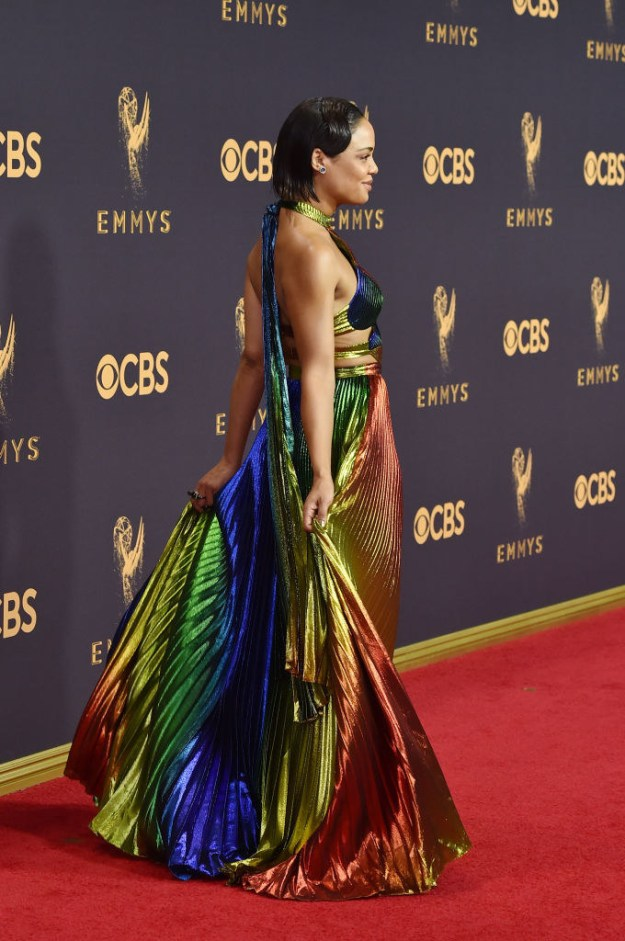 She wore this Rosie Assoulin gown to the Emmys and cancelled the whole event before it even began.