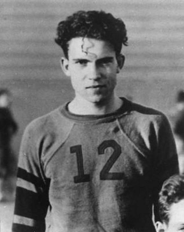 You guys, this is young Richard Nixon. I don't even know.