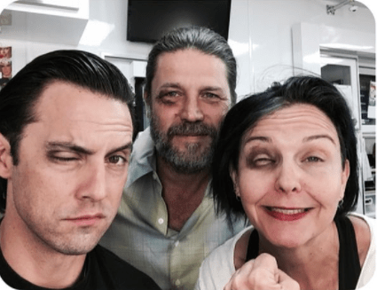 When Milo got word of what had happened, he convinced the This Is Us makeup crew to give him a look to match Mandy's.