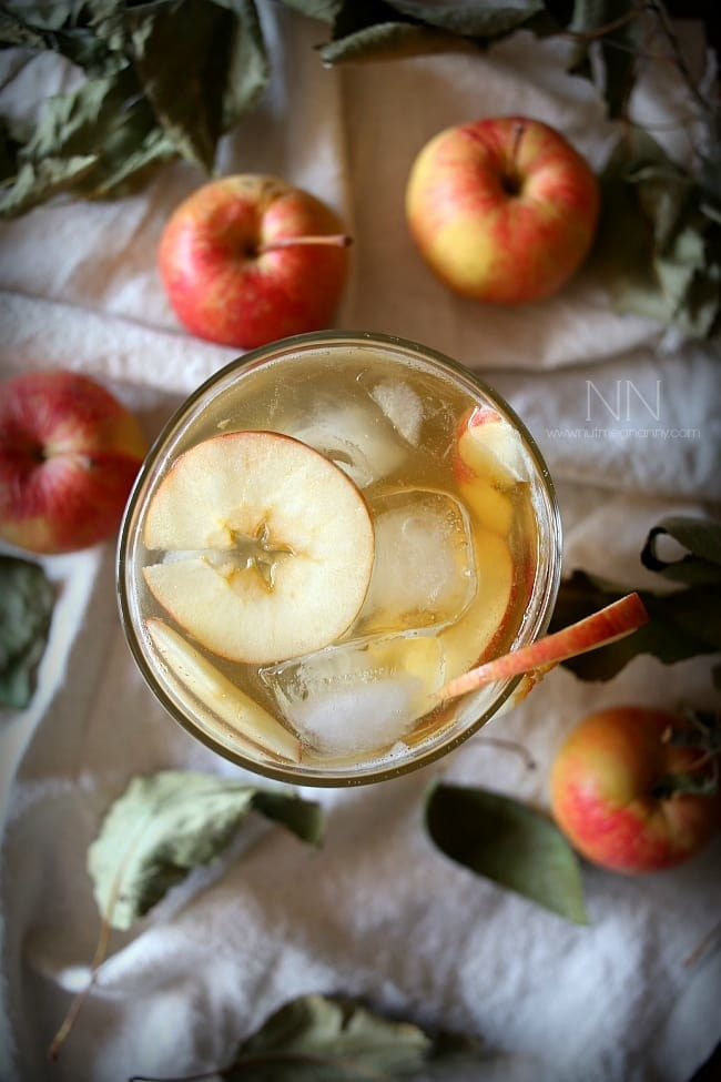 You can buy pre-made apple shrub, or you can easily make it at home with apples, apple cider vinegar, and brown sugar. Get the recipe.