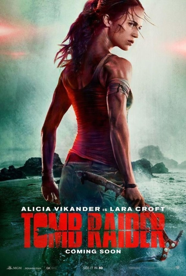 ICYMI, a couple of days ago Warner Bros released the first poster for the upcoming Tomb Raider reboot, and we got our first sneak peek at Alicia Vikander as Lara Croft.