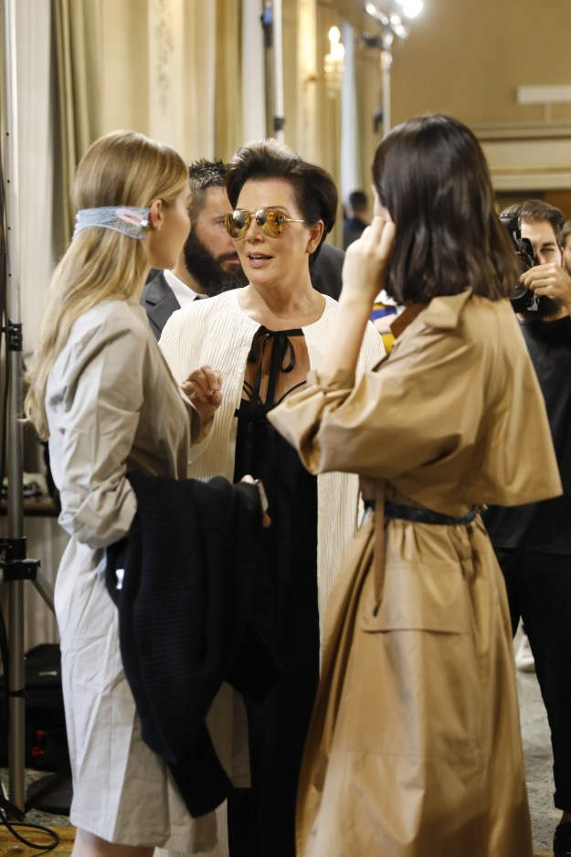 But this morning, while attending an event at Milan Fashion week, Kris gave an interview with The Cut — and she (somewhat reluctantly) broke her silence.