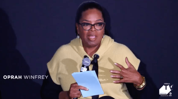 During a panel at the Tribeca TV Festival on Friday, Oprah Winfrey talked about her iconic talk show.