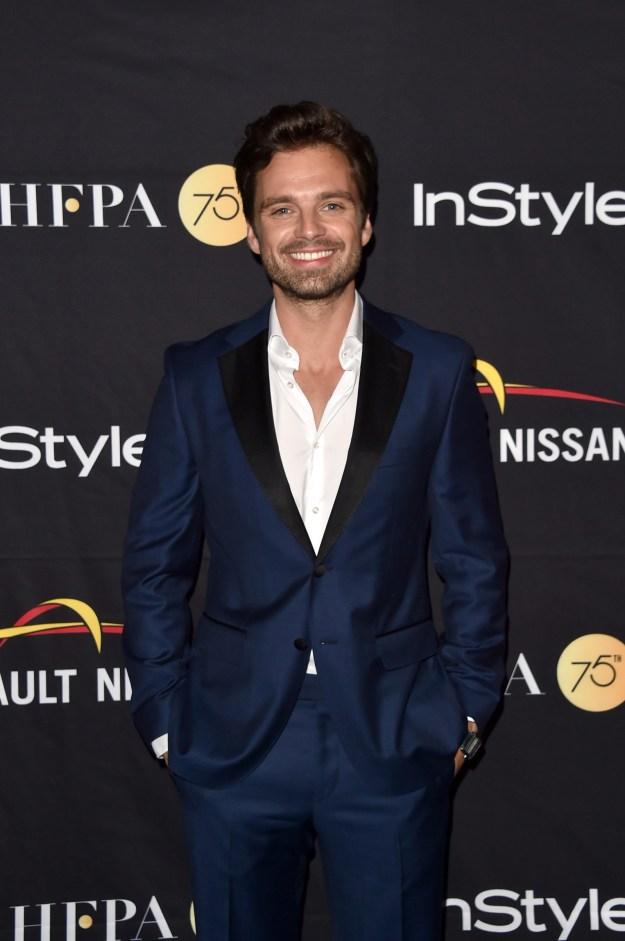 This is Sebastian Stan, aka Bucky Barnes from the Captain America franchise.