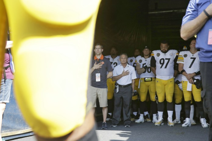 However, Villanueva said that in the moments before the game he ended up separated from his teammates as a group of Bears fans and people carrying a flag exited the field through the same tunnel.