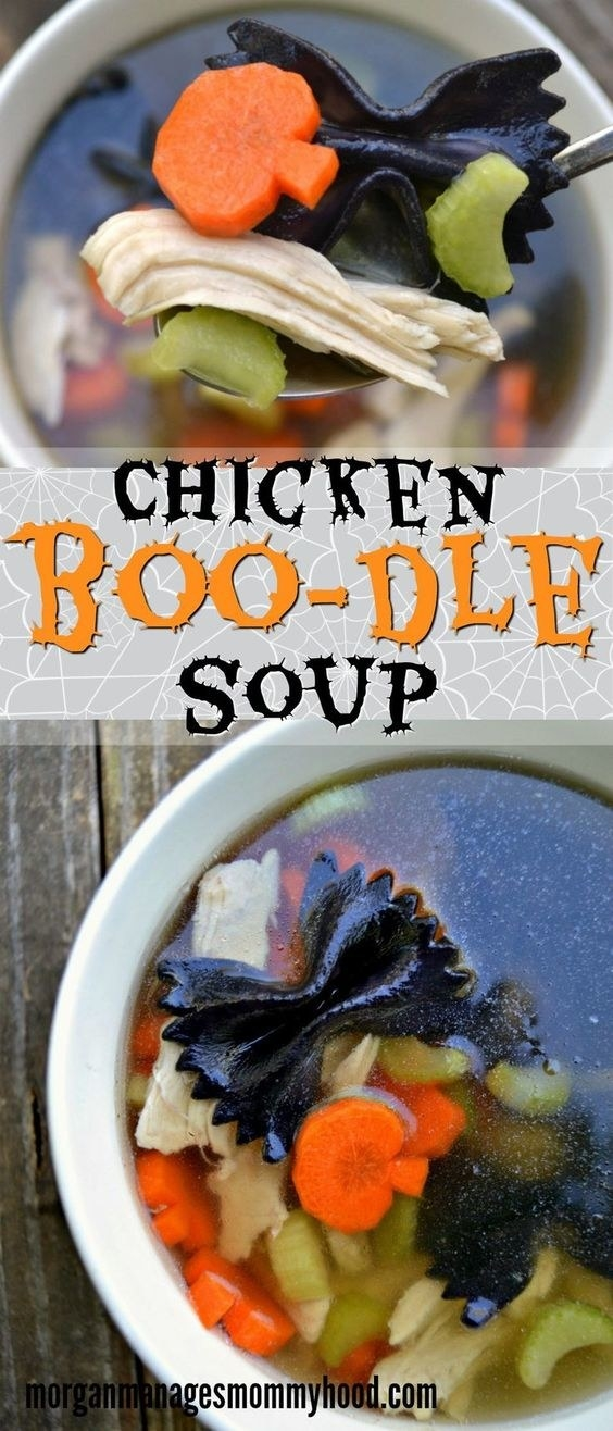 This frightfully fun soup from Morgan Manages Mommyhood has been saved 32,000 times.
