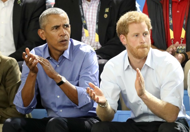 The Invictus Games bring wounded service members and veterans from all over the world together to compete in a series of events. Barack and Harry sat courtside at a basketball game, and they look like they were pretty invested in it.