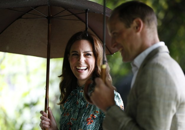 The statement also said that the Duchess had to cancel planned engagements on Monday because – as with her previous pregnancies – she is suffering from severe morning sickness, known as Hyperemesis Gravidarum.