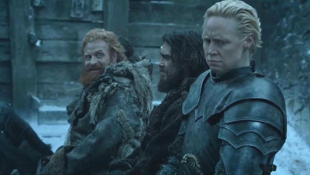And, rightfully so, they talked in depth about everyone's favorite (one-sided) romance on Thrones — Brienne and Tormund.