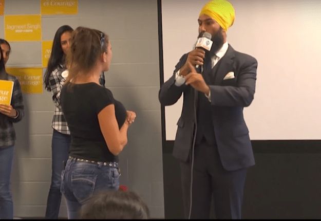 He'd barely said hello when a woman stood up and started grilling the candidate.