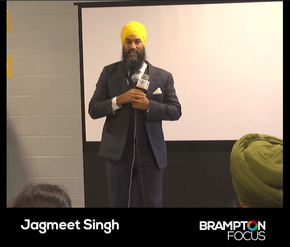 Singh held a meet and greet event in Brampton, Ontario, on Wednesday as part of his campaign. And things got real awkward.