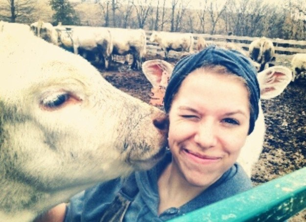 This woman is not part cow.