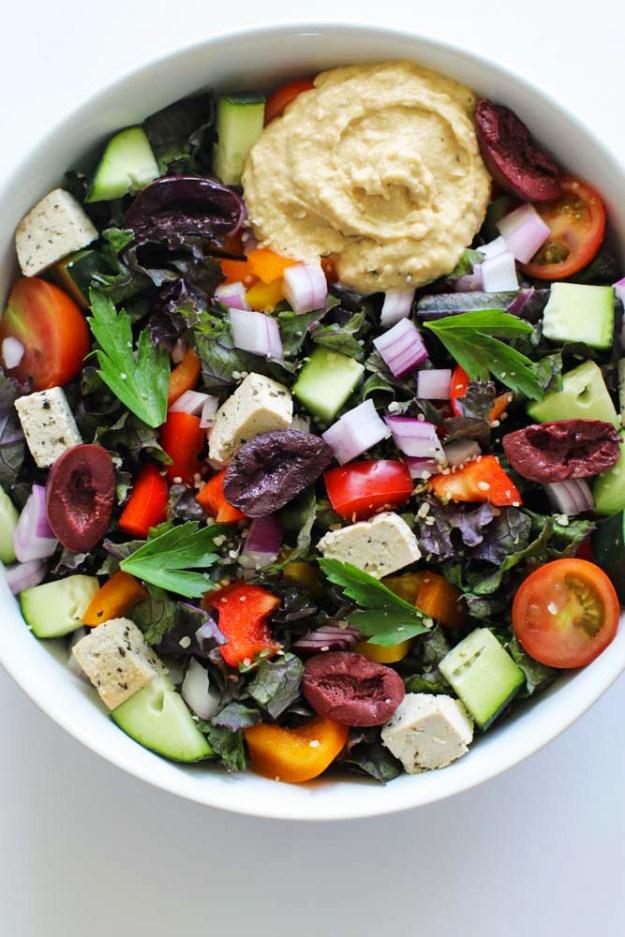 Greek Veggie Bowls with Hummus