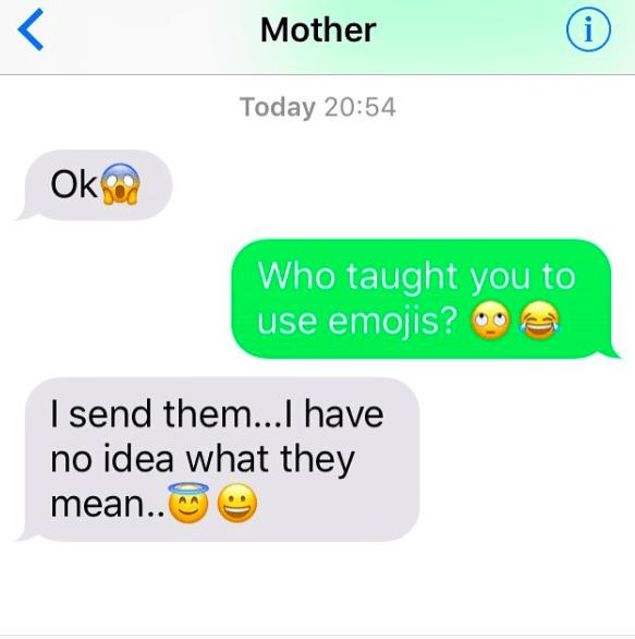 This mom, who loves emojis.