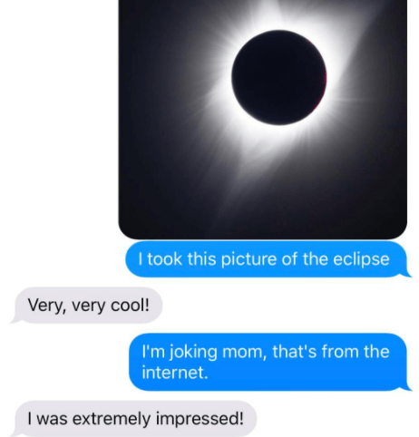 This mom, who had a lot of faith in the iPhone camera.