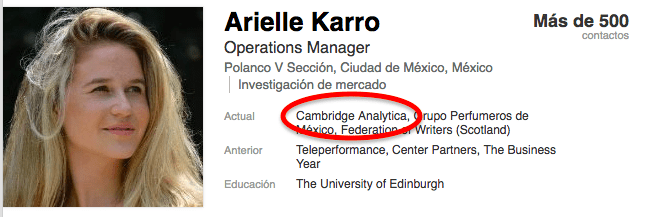 Resultado de imagen para Cambridge Analytica mexico
