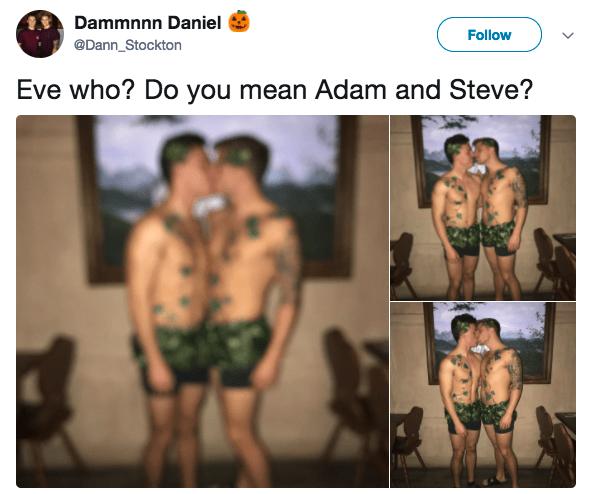 Not Adam and Eve, ADAM AND STEVE:
