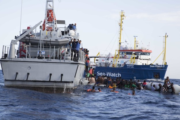Photographer Alessio Paduano was embedded with the crew of the Sea-Watch 3 about 30 miles from the coast of Tripoli last week when they received a distress call from an inflatable boat with refugees on board.