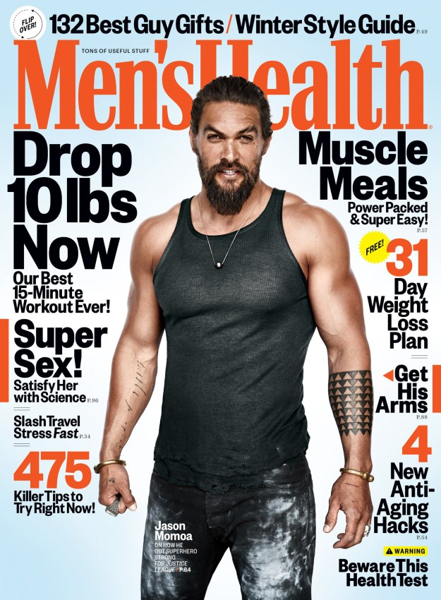 For the December issue of Men's Health magazine, Jason Momoa opened up about fatherhood being one of the best things to ever happen to him.