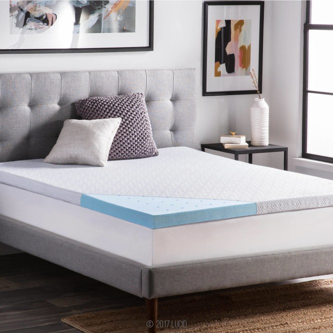 37 Off A Gel Memory Foam Mattress Topper To Give Your Old Fresh New Start