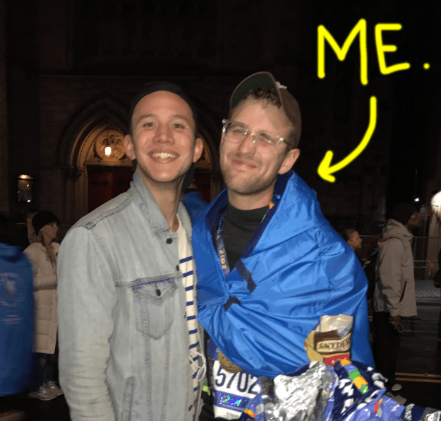 Heyo, my name is Hal. Last November, I ran my first marathon. And now that my knees have recovered and I'm still alive, I'm ready to tell you about the last year's worth of training for the New York City Marathon.