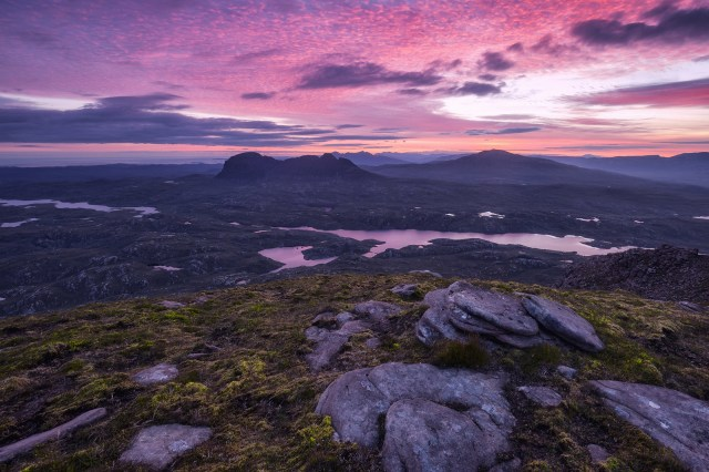 This is a photo of Suilven in the North West Highlands of Scotland, from Cul Mor.