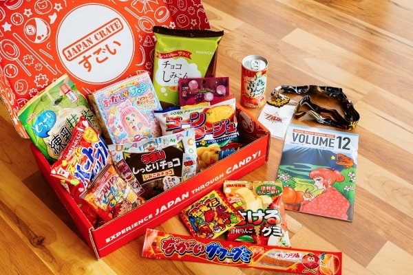 A buncha goodies curated by Japan Crate, so you can give the gift of sweet and savory.